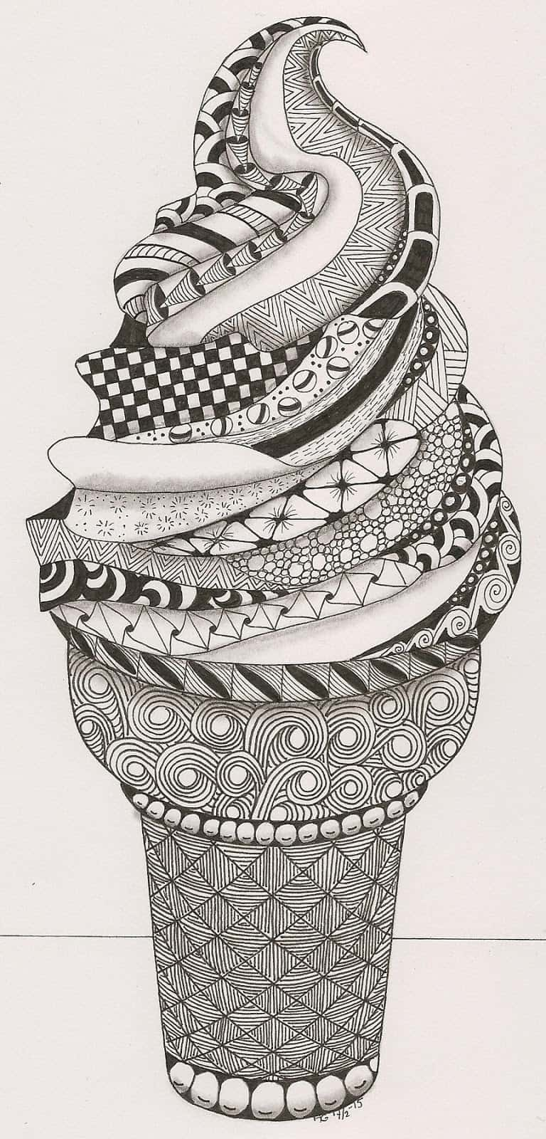 Line Art Zentangle : How to zentangle craftwhack