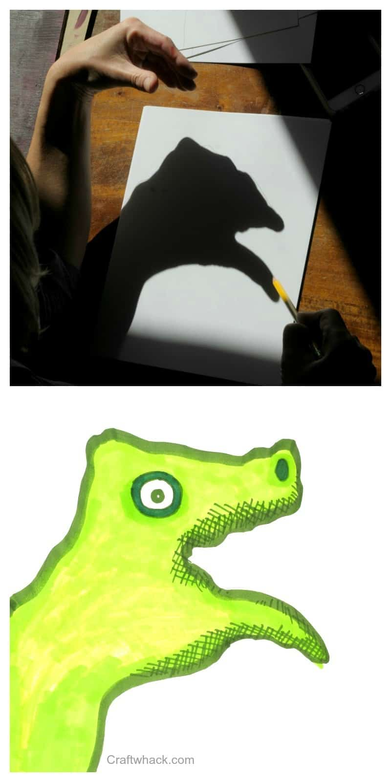 Hey! MAke some hand shadow monster drawings. It's Halloween o'clock!