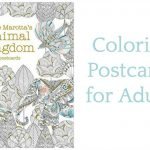 Adult Coloring Pages: Postcard Version