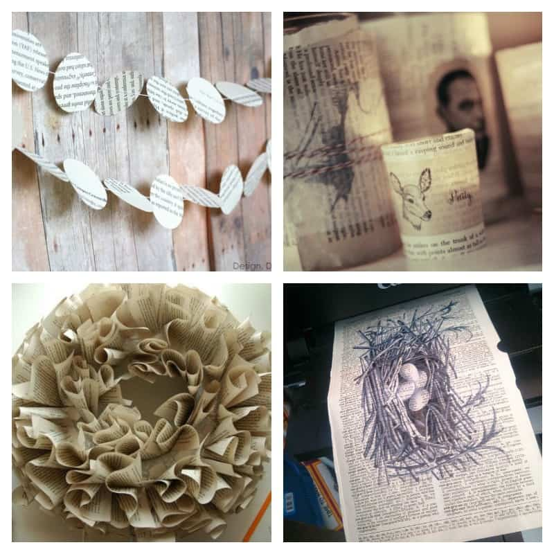 Book page crafts! 10 excessively creative projects to make from or with old books. Time to raid the thrift stores.