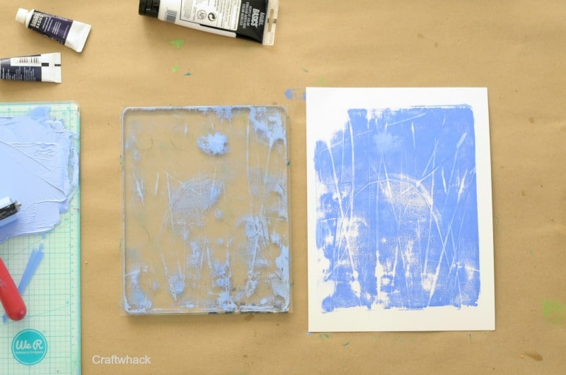 Line drawing on a Gelli plate and more techniques