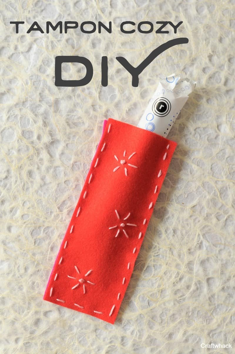 Totally rad tampon cozy DIY