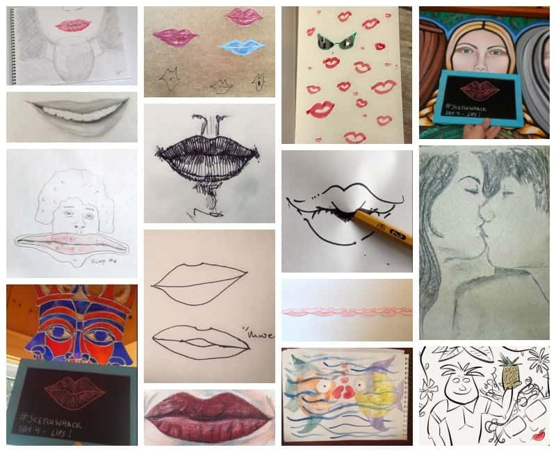 10 drawing prompts for everyone - plus lots of great examples of how people interpreted them!