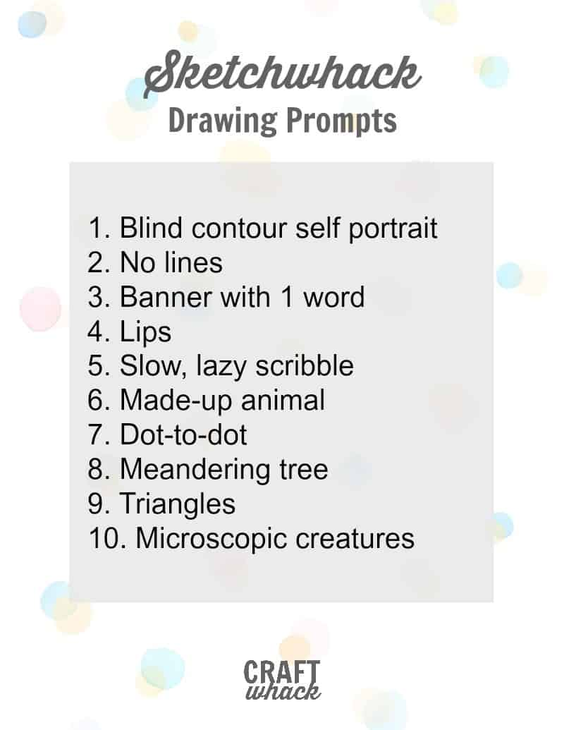 10 Drawing Prompts To Help You Fill That New Sketchbook Craftwhack When i started at the secondary level, i quickly realized my students needed to be. 10 drawing prompts to help you fill