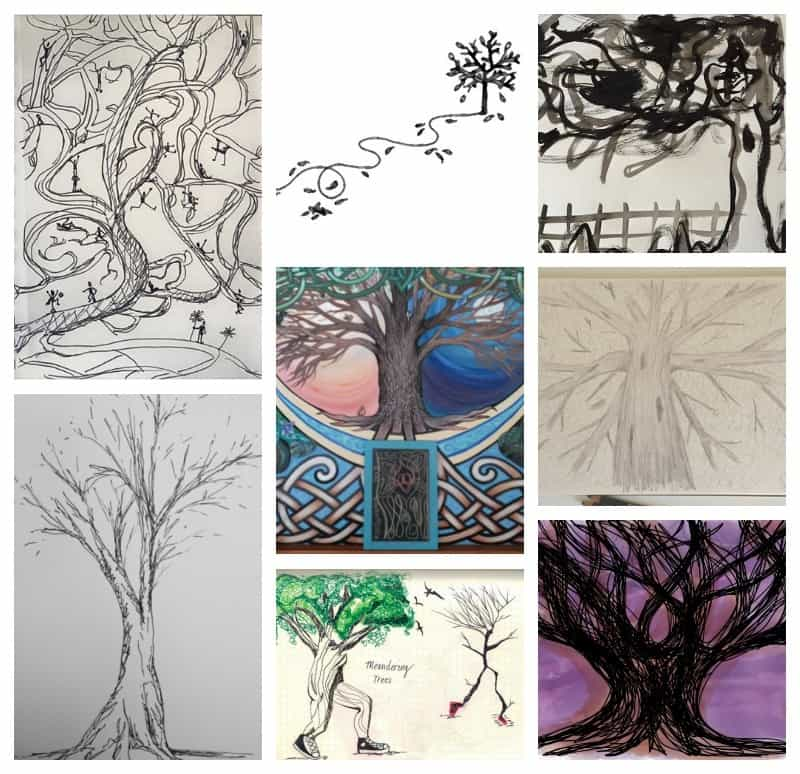 Meandering trees! Part of 10 drawing prompts