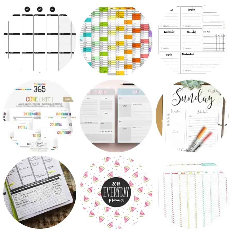 printable calendar and planners