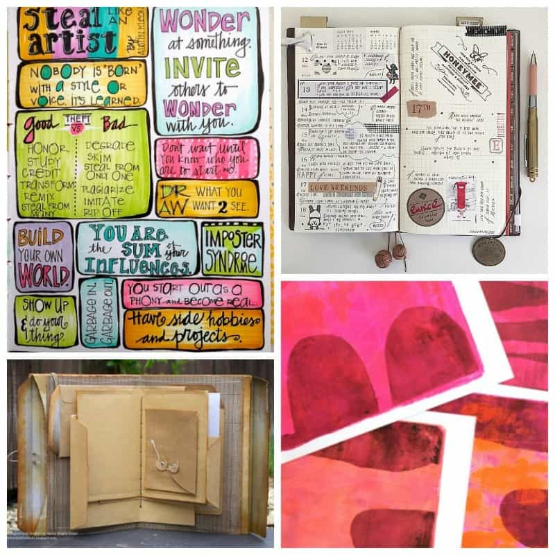 ARt journaling and sketchbook and paper planner ideas