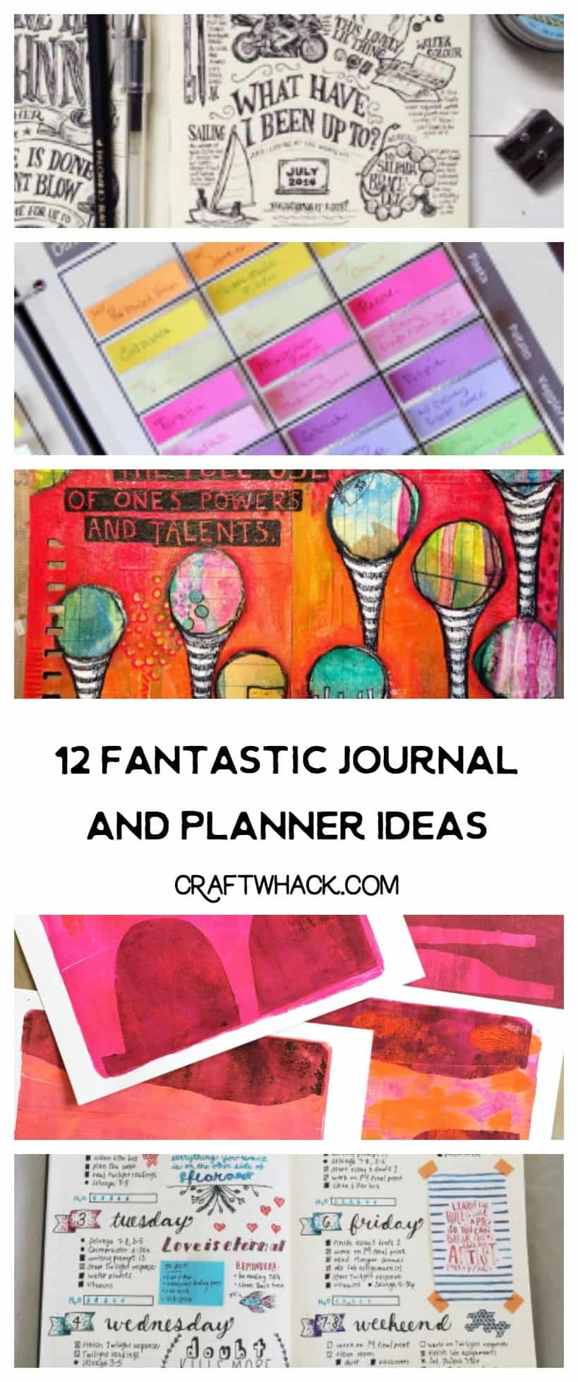 12 journal and planner ideas