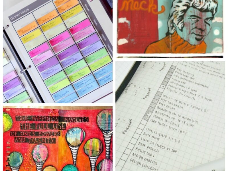 sketchbooks and planners inspiration