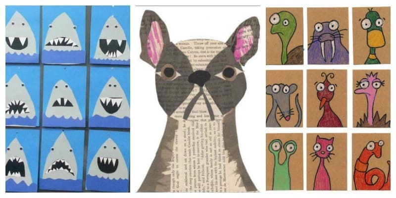 These are such great animal art project ideas for kids