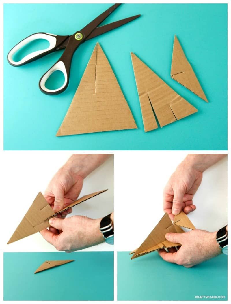 Make some super cute, easy little cardboard airplanes