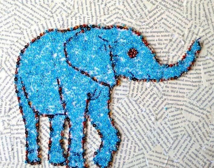 Image of: Murals Ridiculously Simple Faux Mosaic Animal Art Craftwhack Ridiculously Simple Faux Mosaic Animal Art Craftwhack