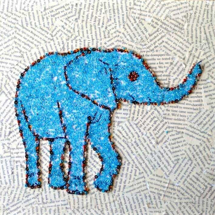 Ridiculously Simple Faux Mosaic Animal Art