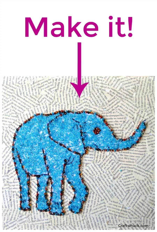Beaded animal art project