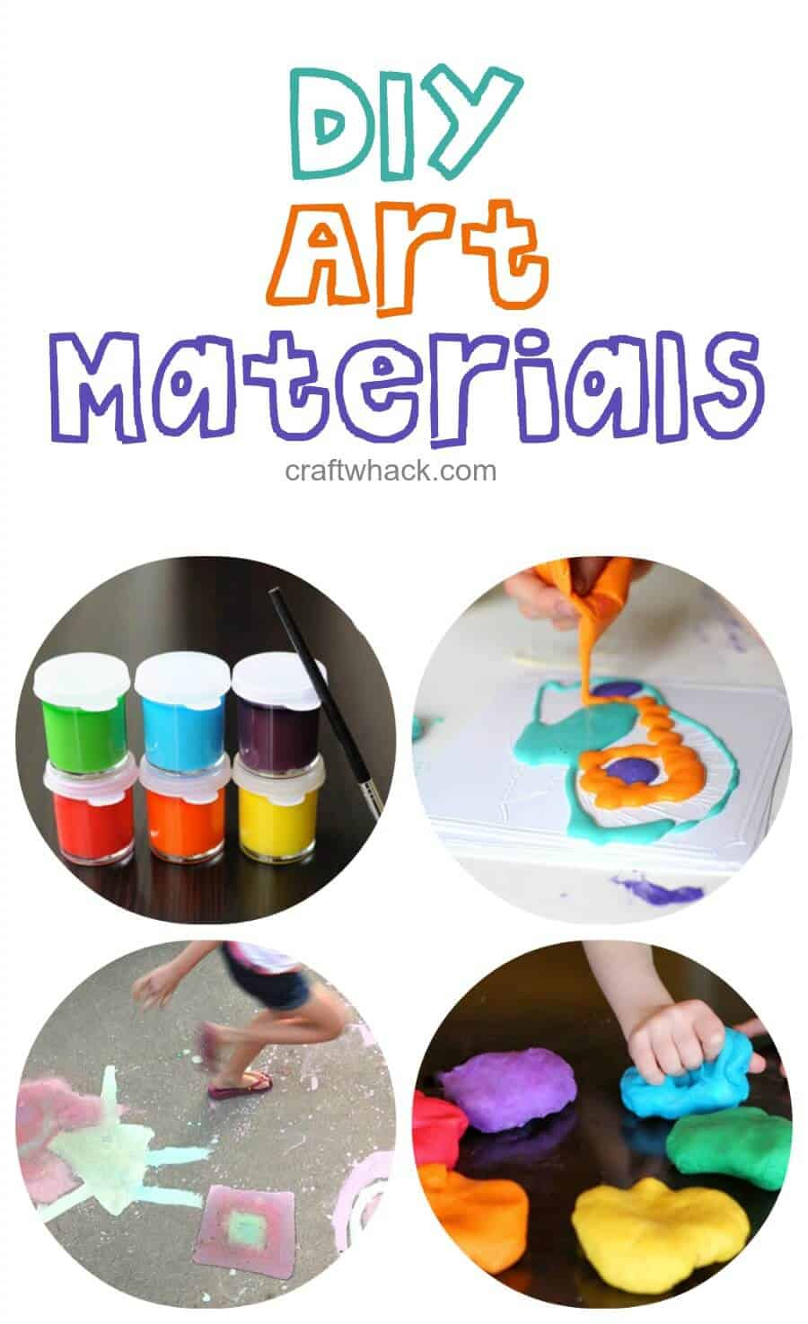 DIY art materials - ideas for making your own art supplies to double your creative endeavor!