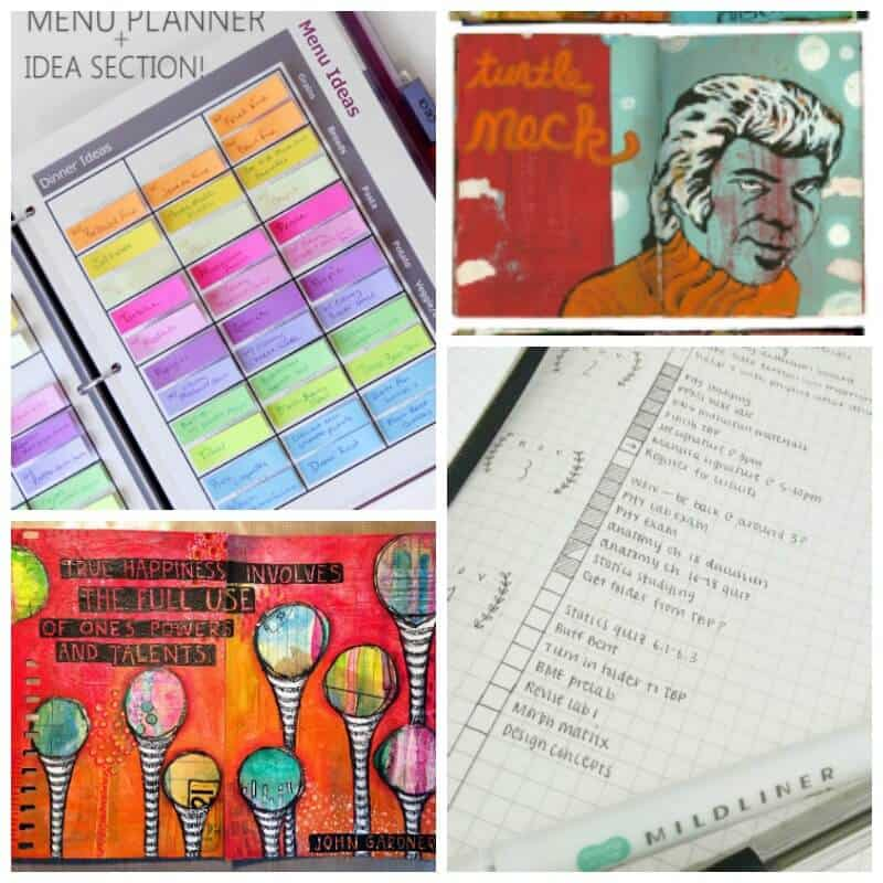 journals and planner ideas