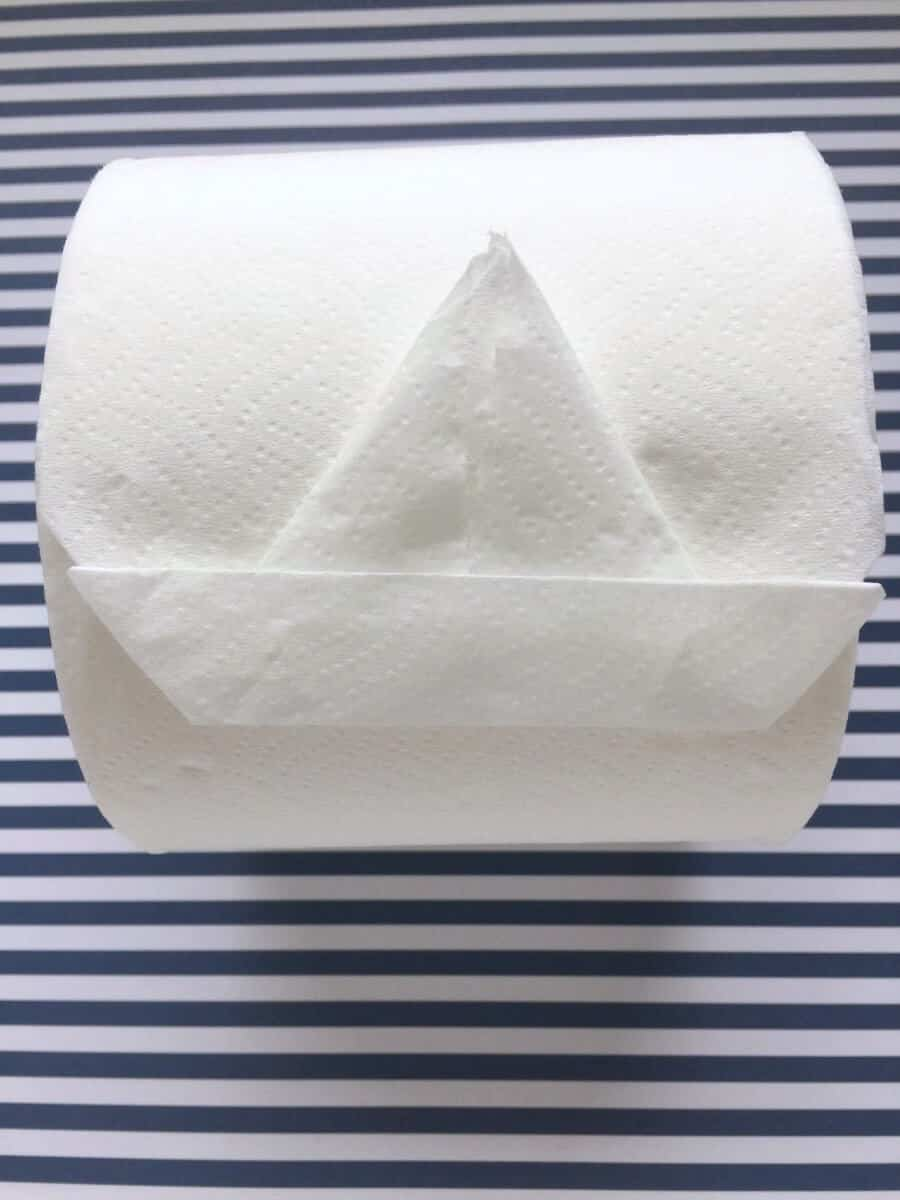 How to make an origami toilet paper sailboat (It's really easy.)