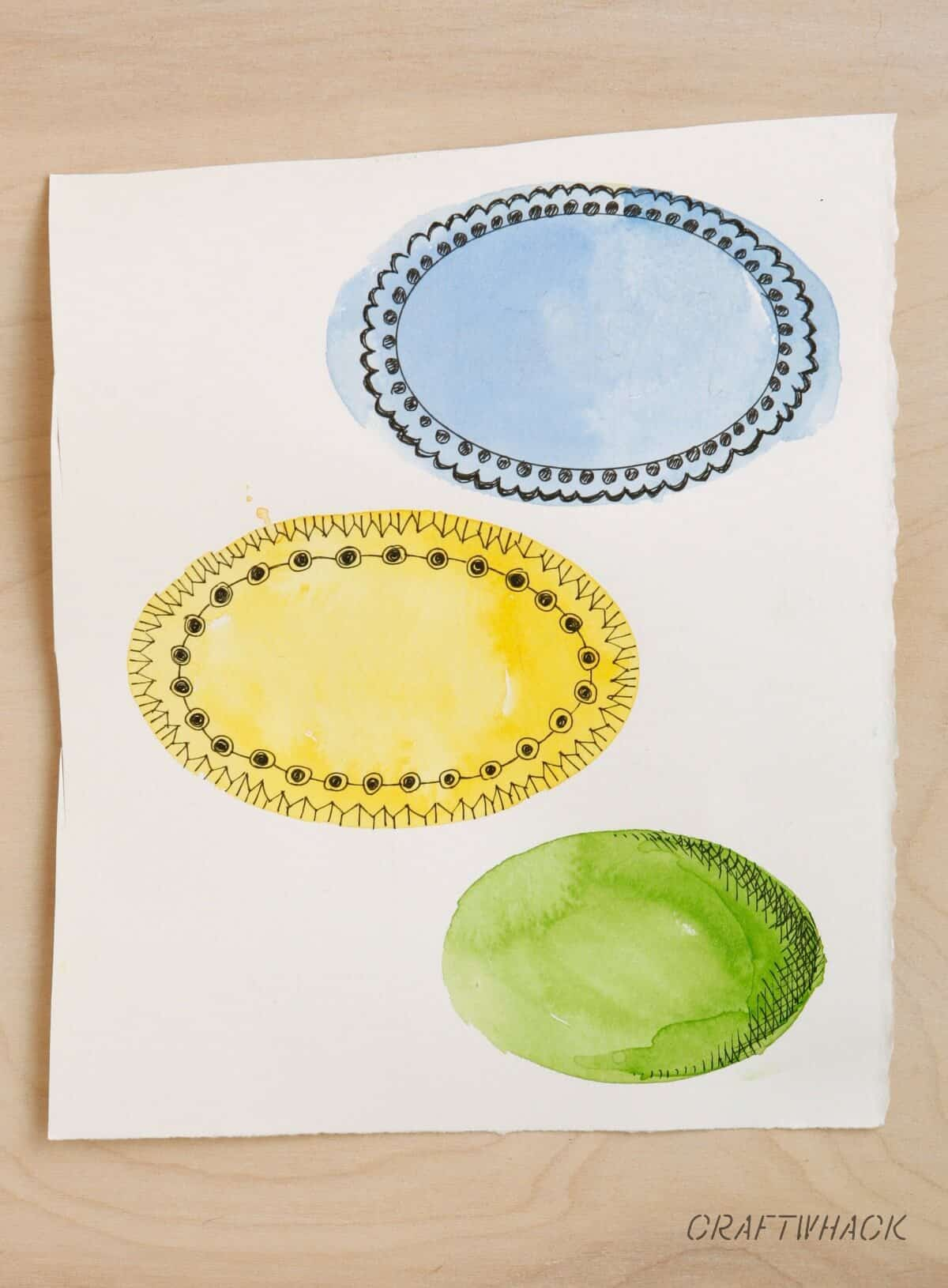 Watercolor stencil labels and other ideas for using stencils with watercolors