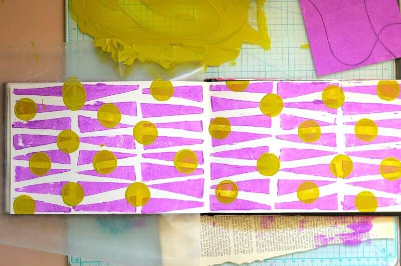 printmaking with foam pieces - areally fun and easy art technique