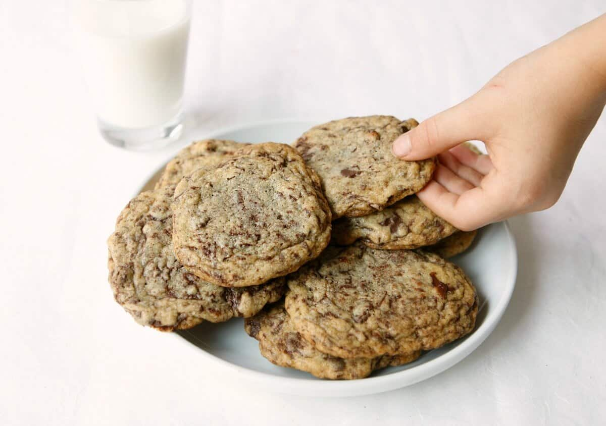 Yum! Chocolate chip cookies using the best ingredients