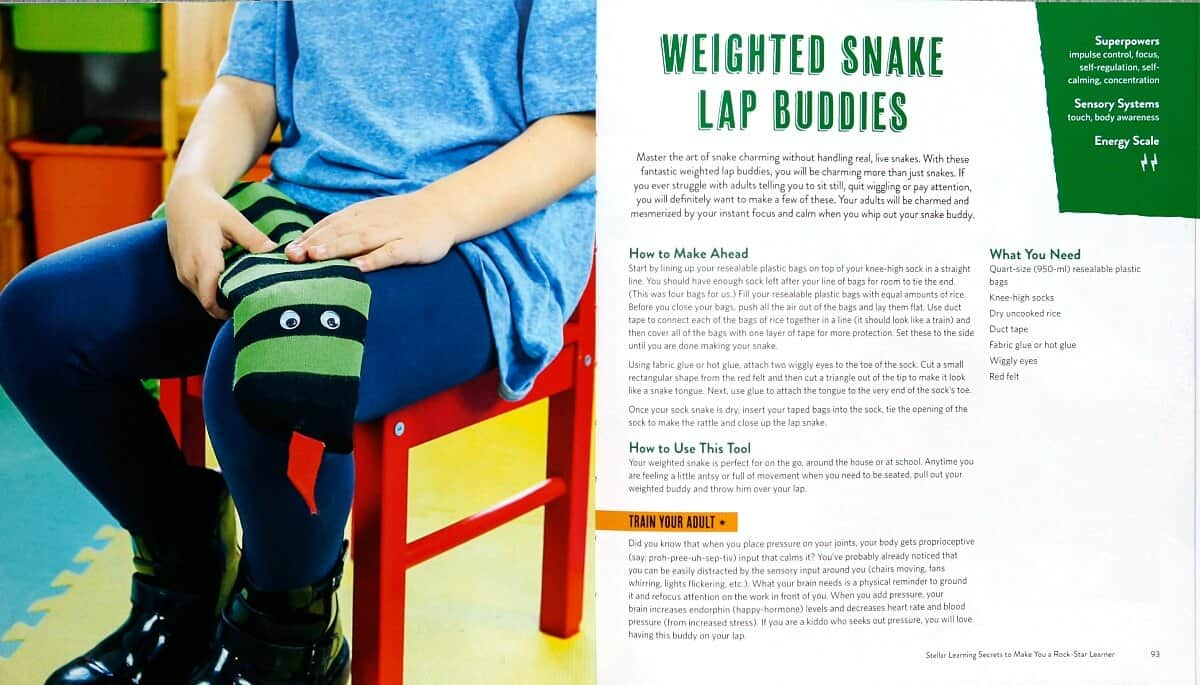 Lap Snake project from the Superkids Activity Book by Dayna Abraham