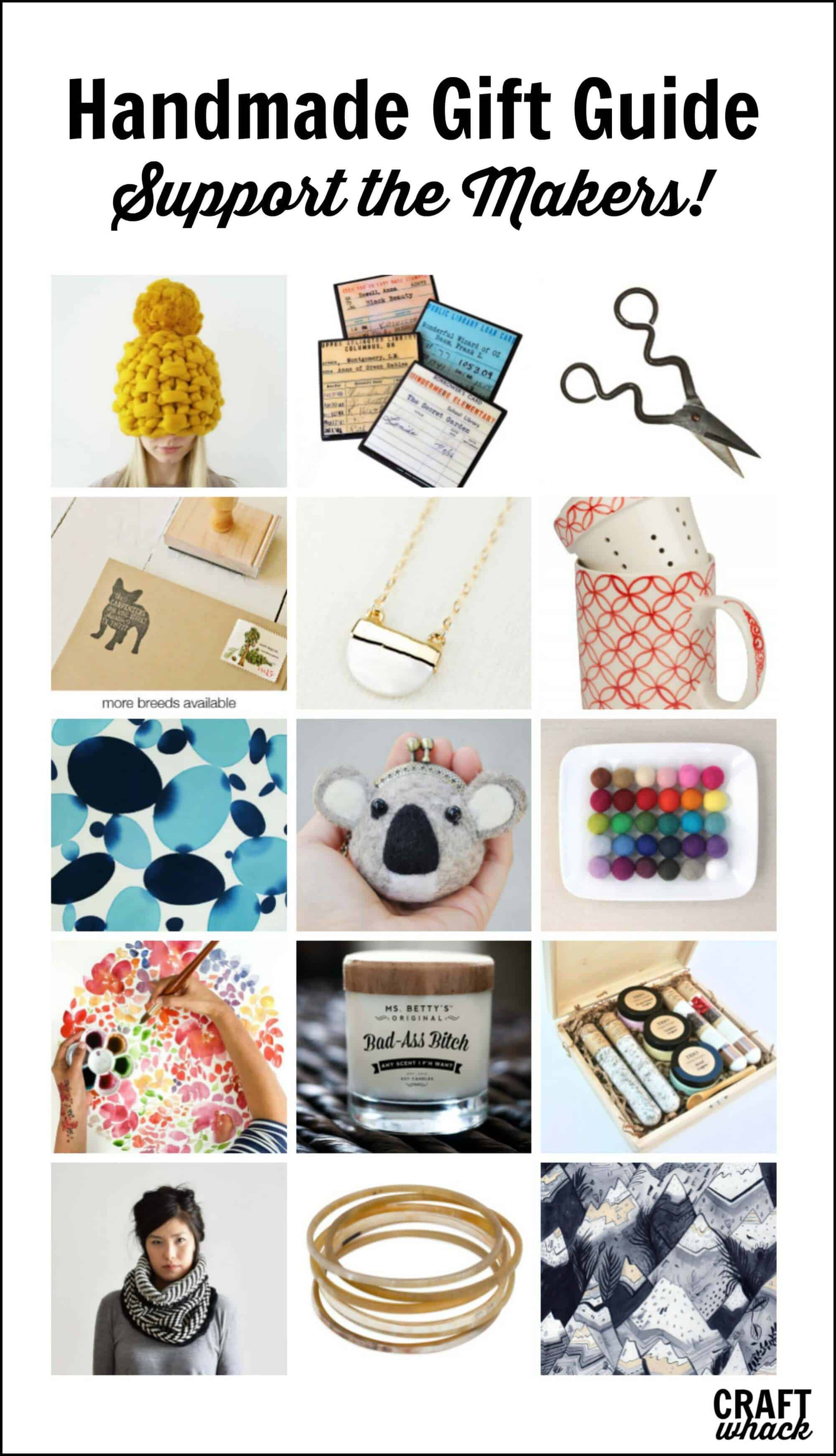 Artisan made gifts! 2017 gift guide from Craftwhack