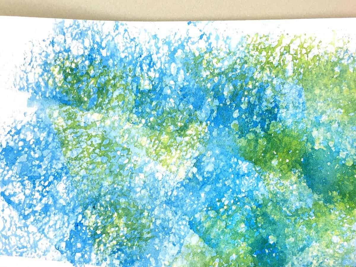 Sponge painting waterecolor