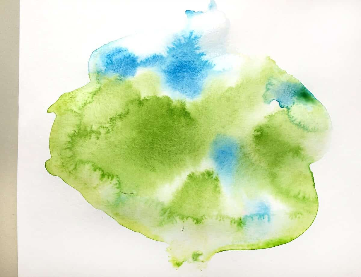 watercolor in water