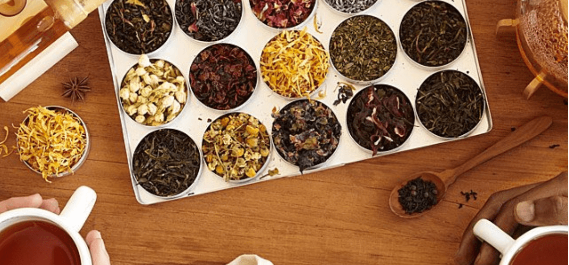 green tea and herb mixing kit