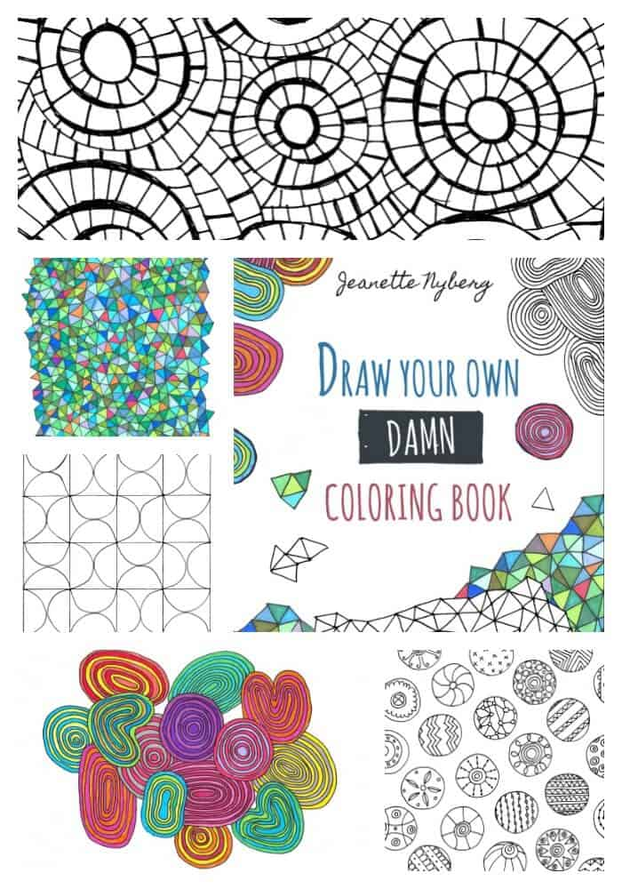 Go a step further than adult coloring books with Draw Your Own Coloring Book by Jeanette Nyberg of Craftwhack