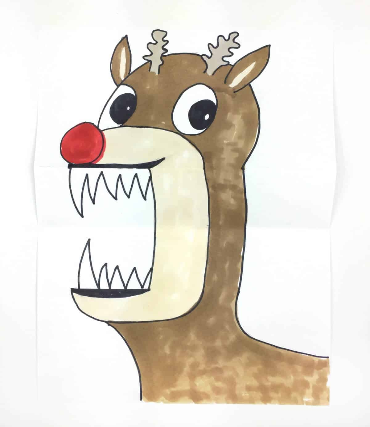 Funny Christmas paper project for kids