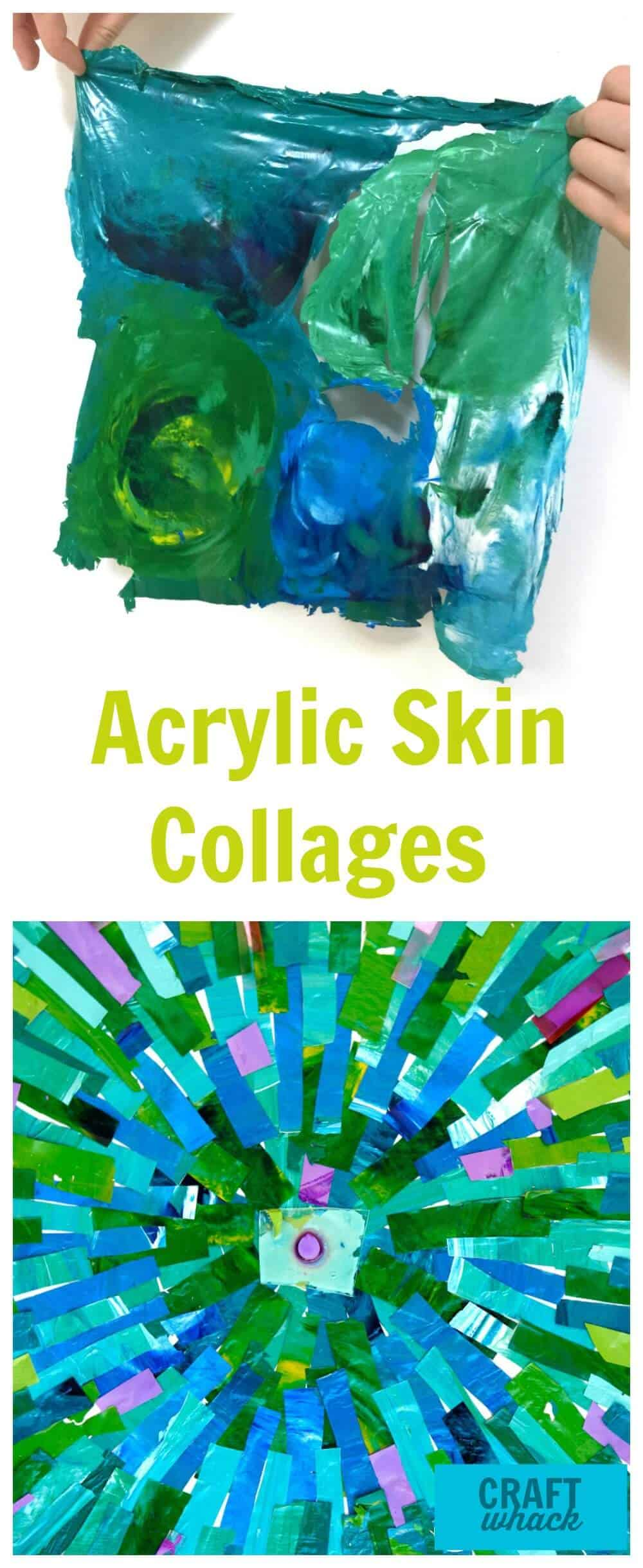 acrylic skins collage