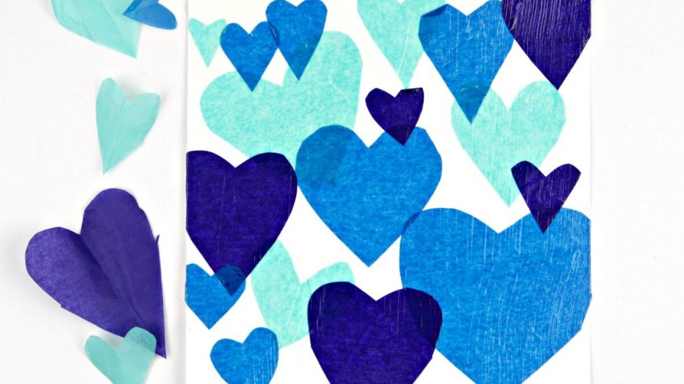 blue-tissue-paper-hearts-collage