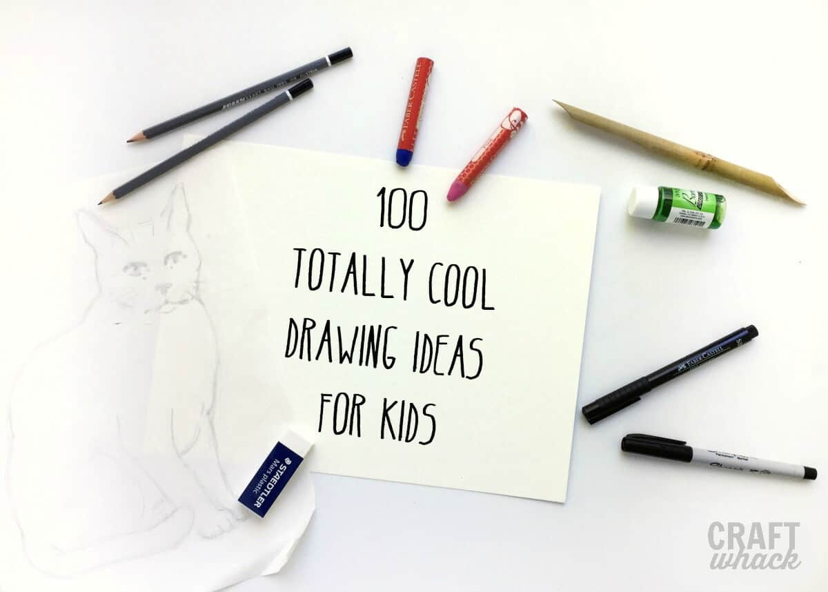 100 crazy cool drawing ideas for kids craftwhack Simple drawing ideas for kids