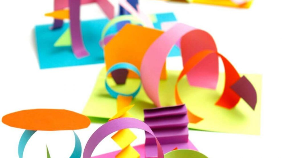 Colored paper 3d Collage