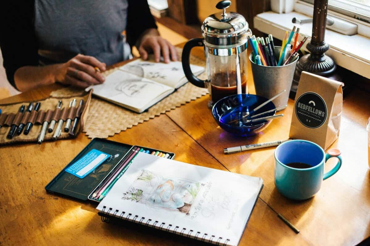 sketchbook ideas and a printable drawing ideas list