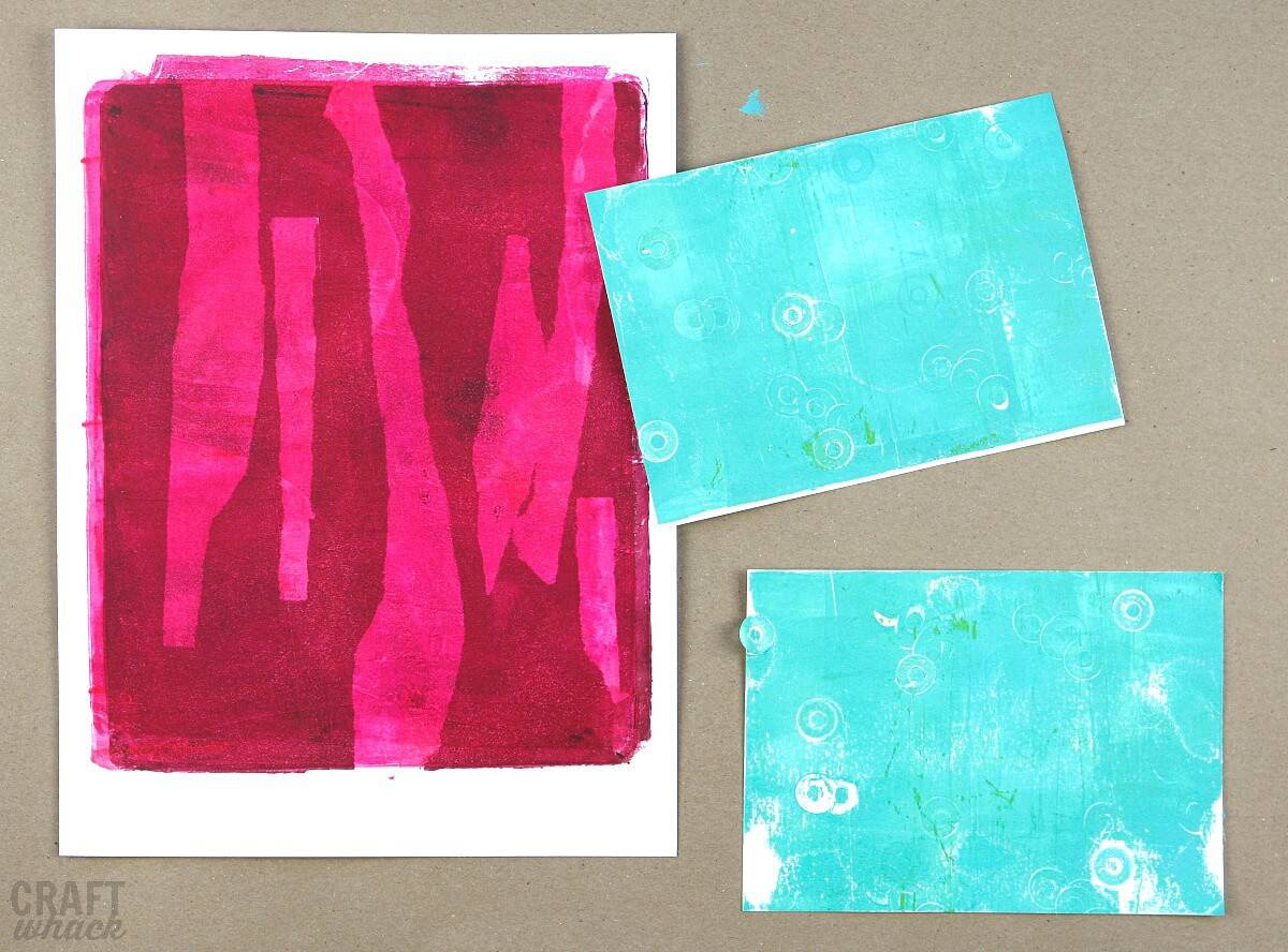 Prints made with gelli plate