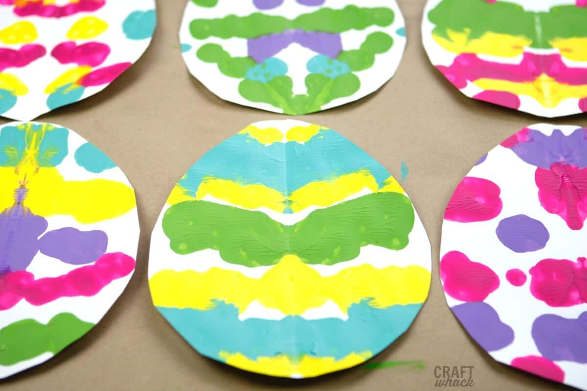Rorschach print Easter eggs craft