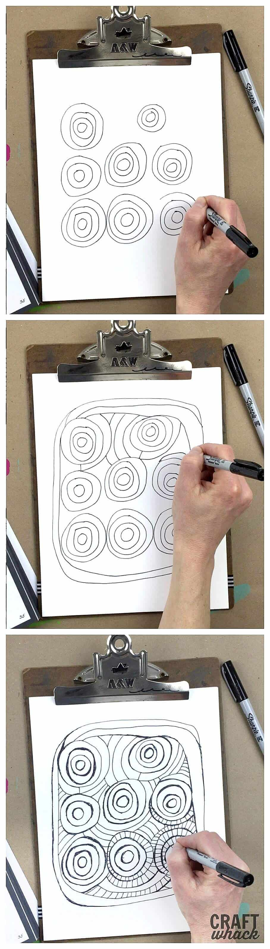 How to Draw a Really Cool Coloring Page • Craftwhack