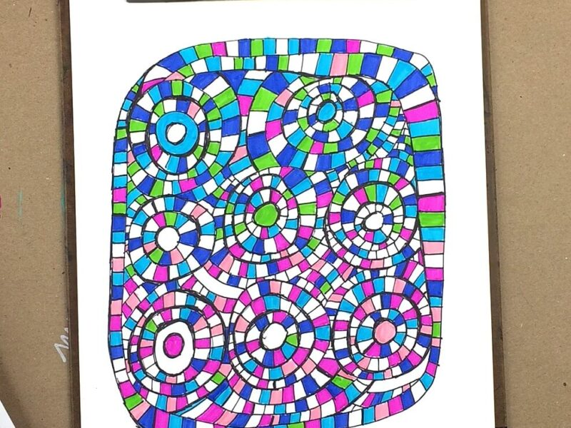 finished coloring page