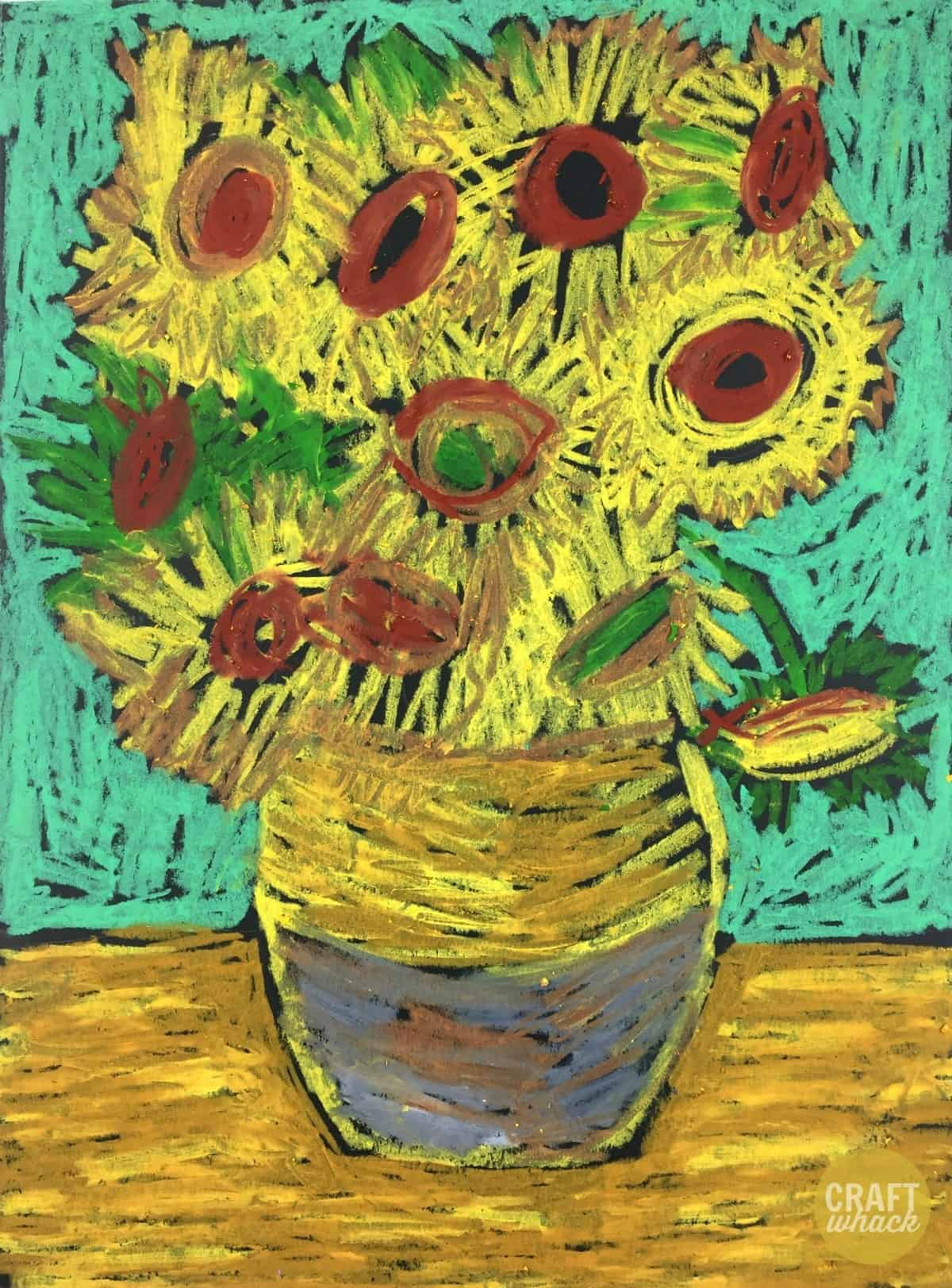 Van Gogh oil pastel art