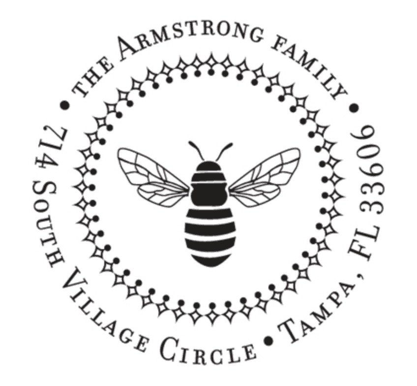 bee custom address stamp