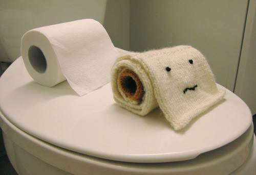 knitted toilet paper roll