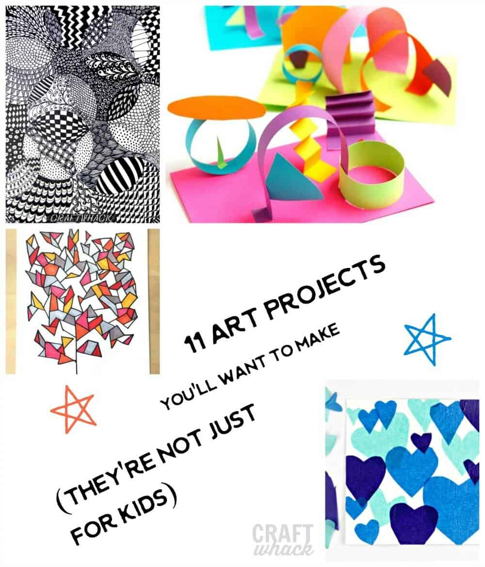 art projects for kids that you'll want to make