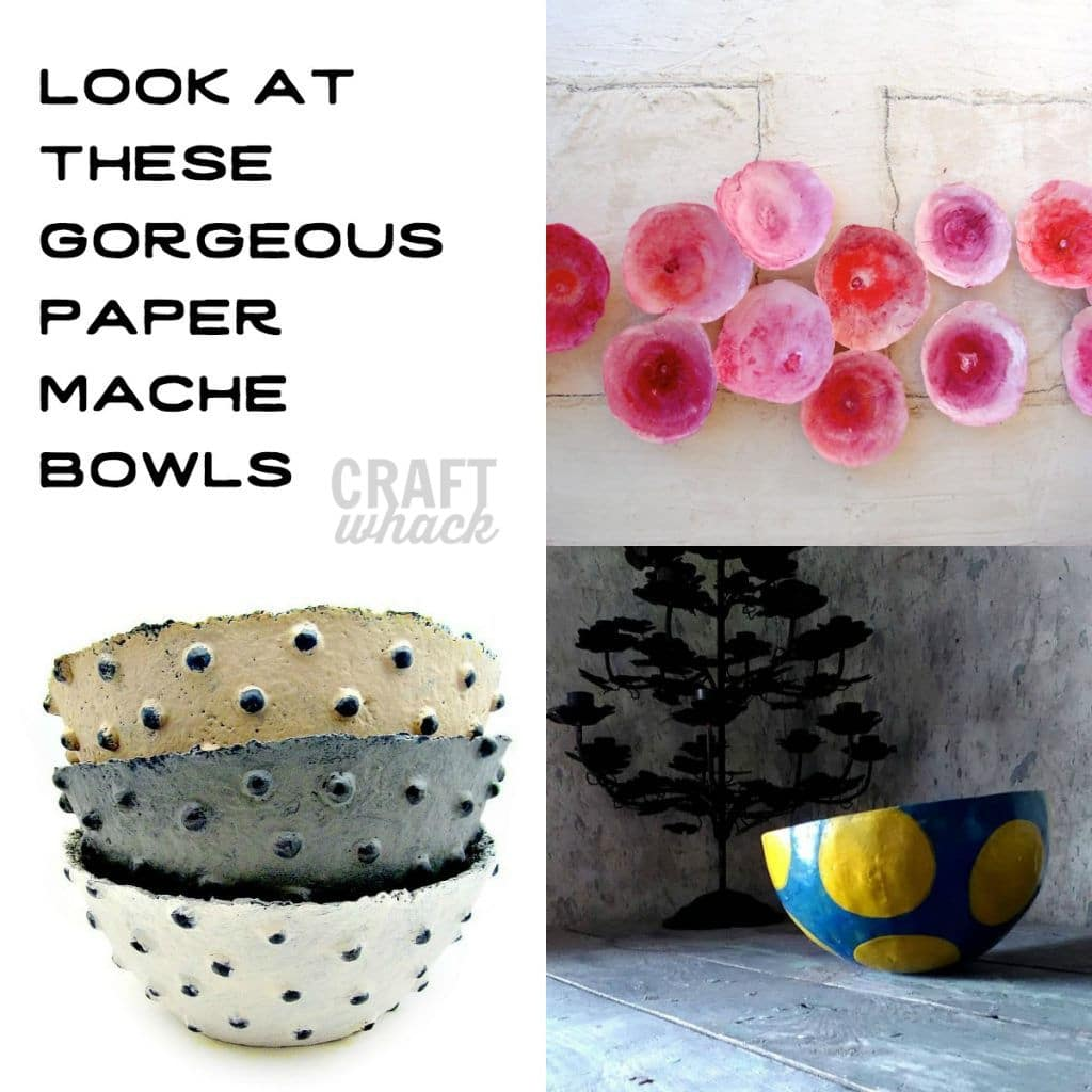 Beautiful paper mache bowls