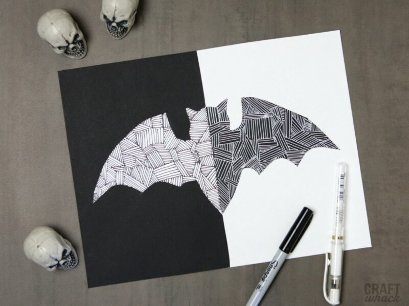 Bat paper art project