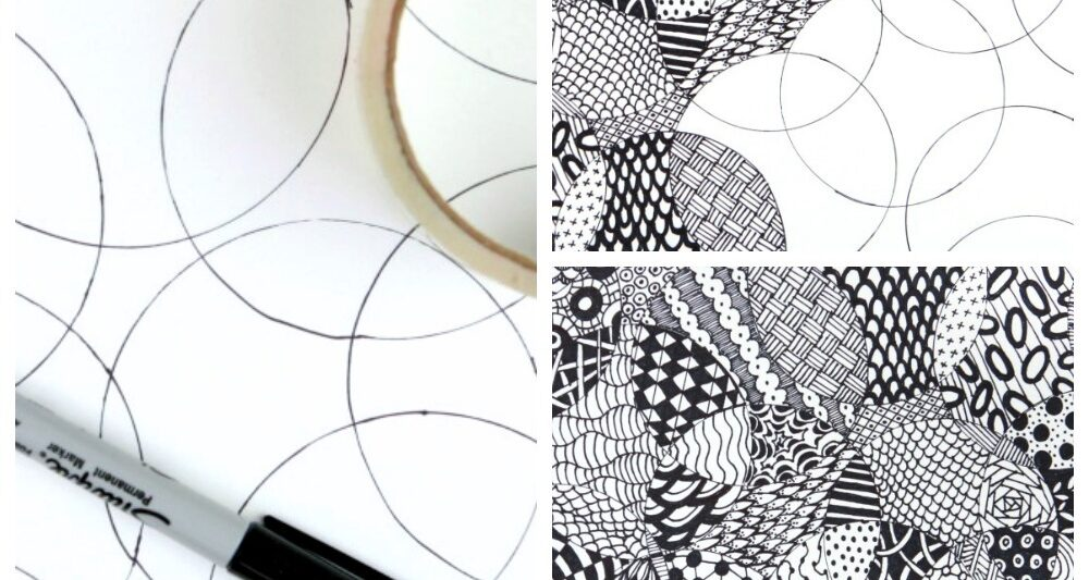 image about Printable Zentangle Patterns referred to as Comprehensively Basic Zentangle · Craftwhack