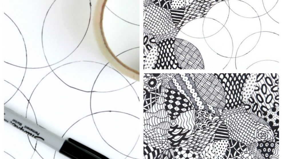 533c9bd4001508 Totally Easy Zentangle · Craftwhack