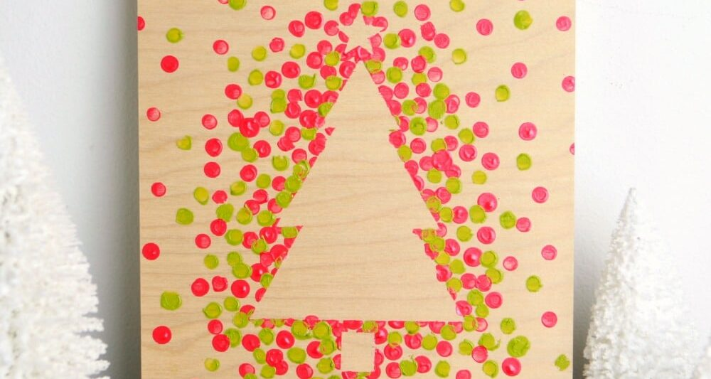 image regarding Dotty Paper Printable named Very simple and Lovable Dotty Xmas Tree Paintings · Craftwhack