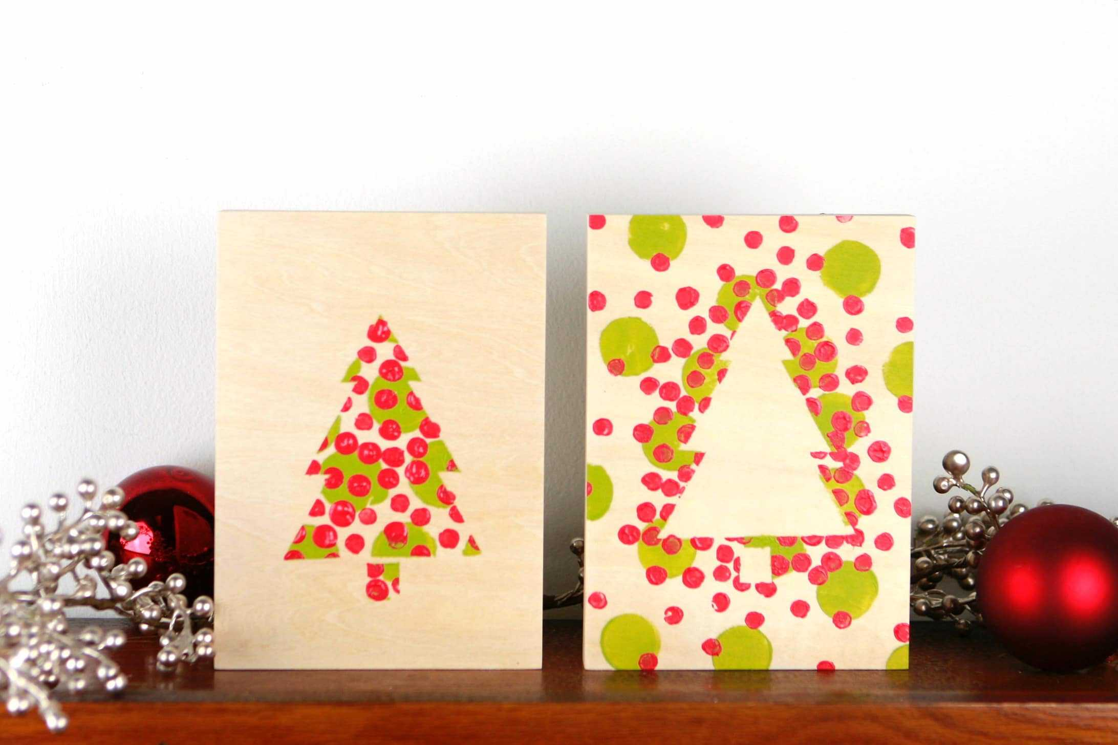 Easy And Adorable Dotty Christmas Tree Paintings Craftwhack